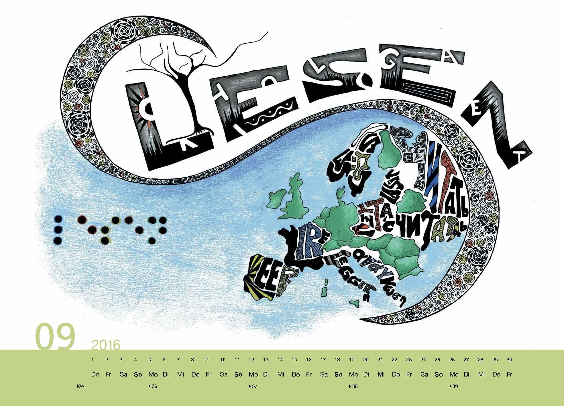 Berufskolleg f r grafik design ulm kalender 2016 for Berufskolleg grafik design